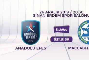 Anadolu Efes Maccabi bilet nasıl alınır?