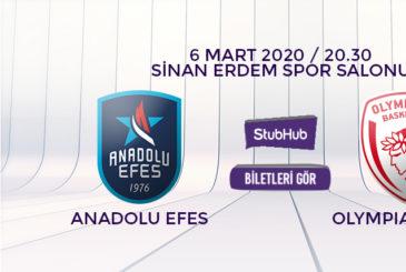 Anadolu Efes Olympiacos bilet nasıl alınır?