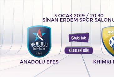 Anadolu Efes Khimki bilet nasıl alınır?