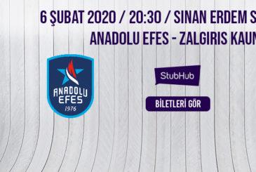 Anadolu Efes Zalgiris bilet nasıl alınır?