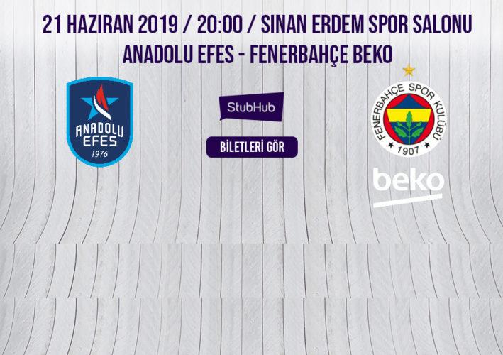 Anadolu Efes Fenerbahçe Beko biletleri StubHub'da! #StubHub